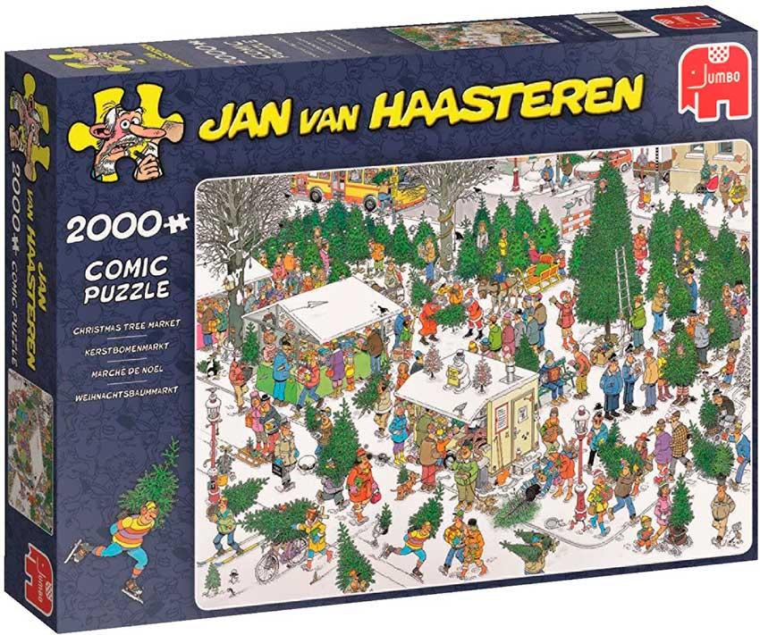 Puzzle Jumbo Mercado de Arboles de Navidad de 2000 Piezas