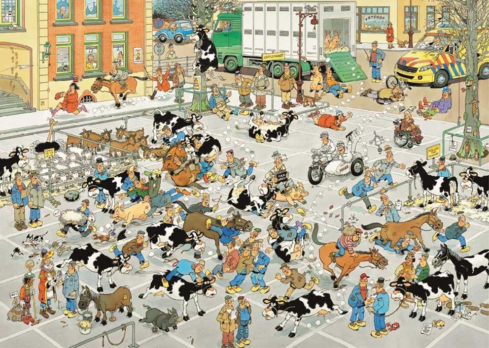 Puzzle Jumbo Feria de Ganado de 1000 Piezas