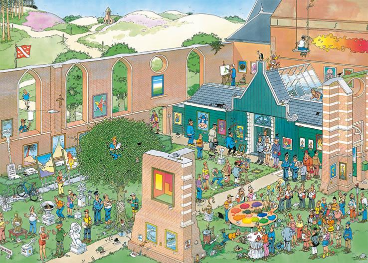 Puzzle Jumbo Mercado del Arte de 1000 Piezas
