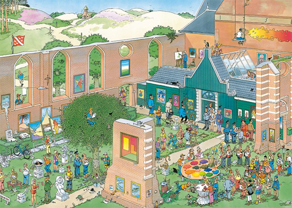Puzzle Jumbo Mercado del Arte de 2000 Piezas