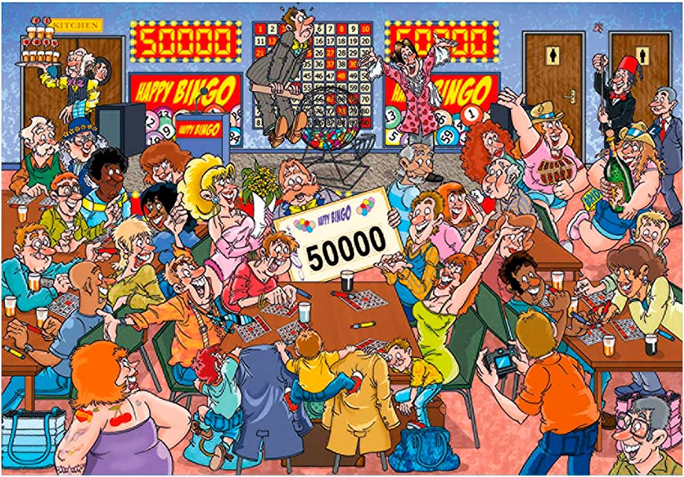 Puzzle Jumbo Mistery Error en el Bingo de 1000 Piezas