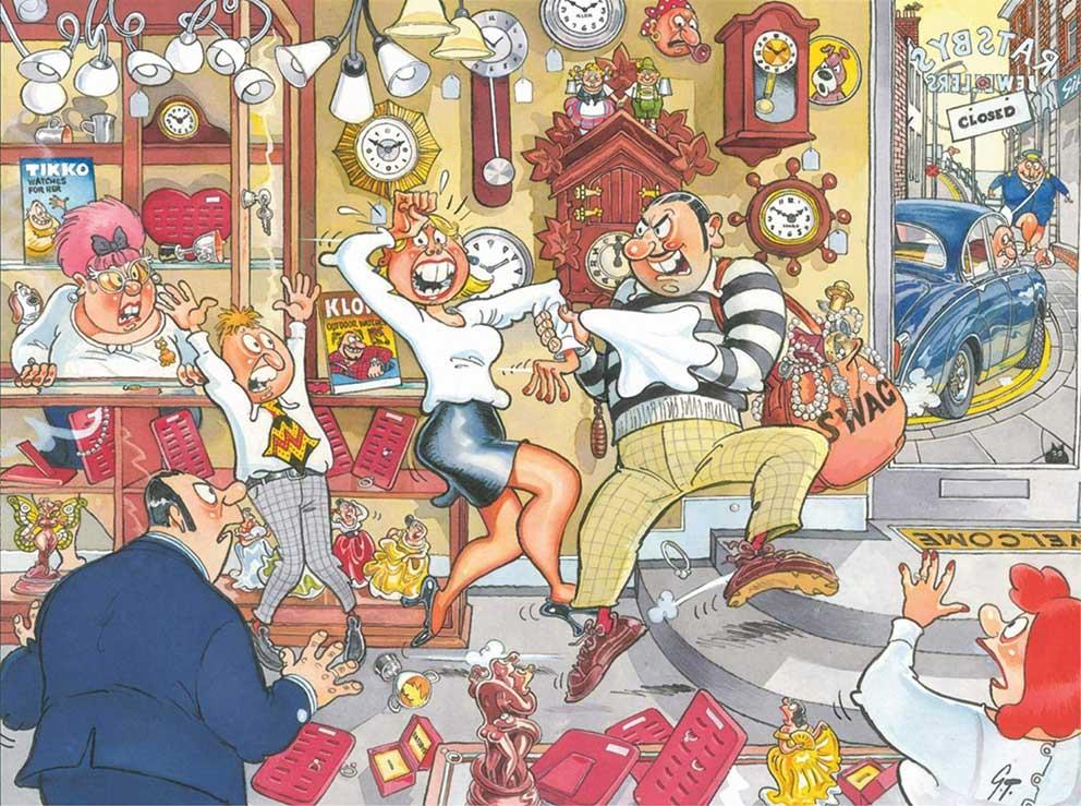 Puzzle Jumbo Mystery Detener el Reloj de Wasgij  1000 Piezas