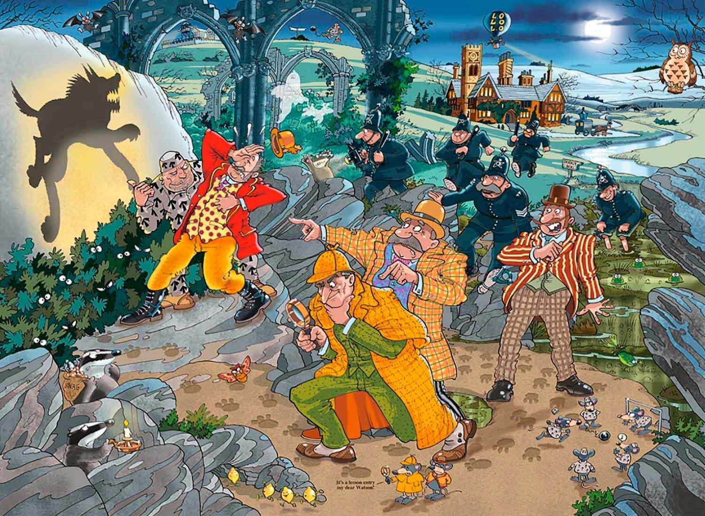 Puzzle Jumbo Mystery Sabuesos de Wasgij de 1000 Piezas