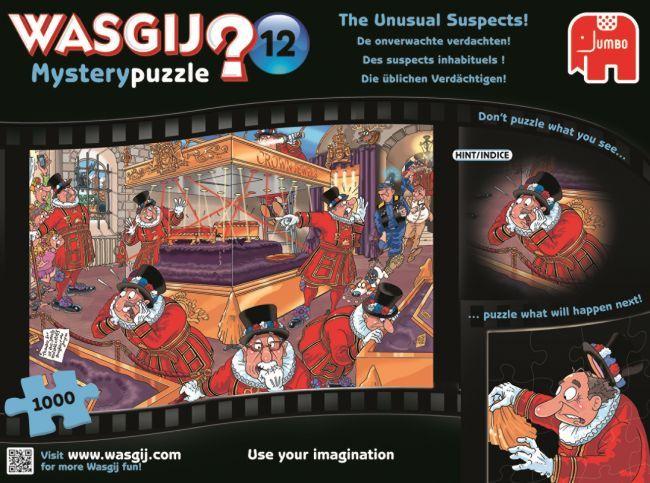 Puzzle Jumbo Mystery Sospechoso Inusual de 1000 Piezas