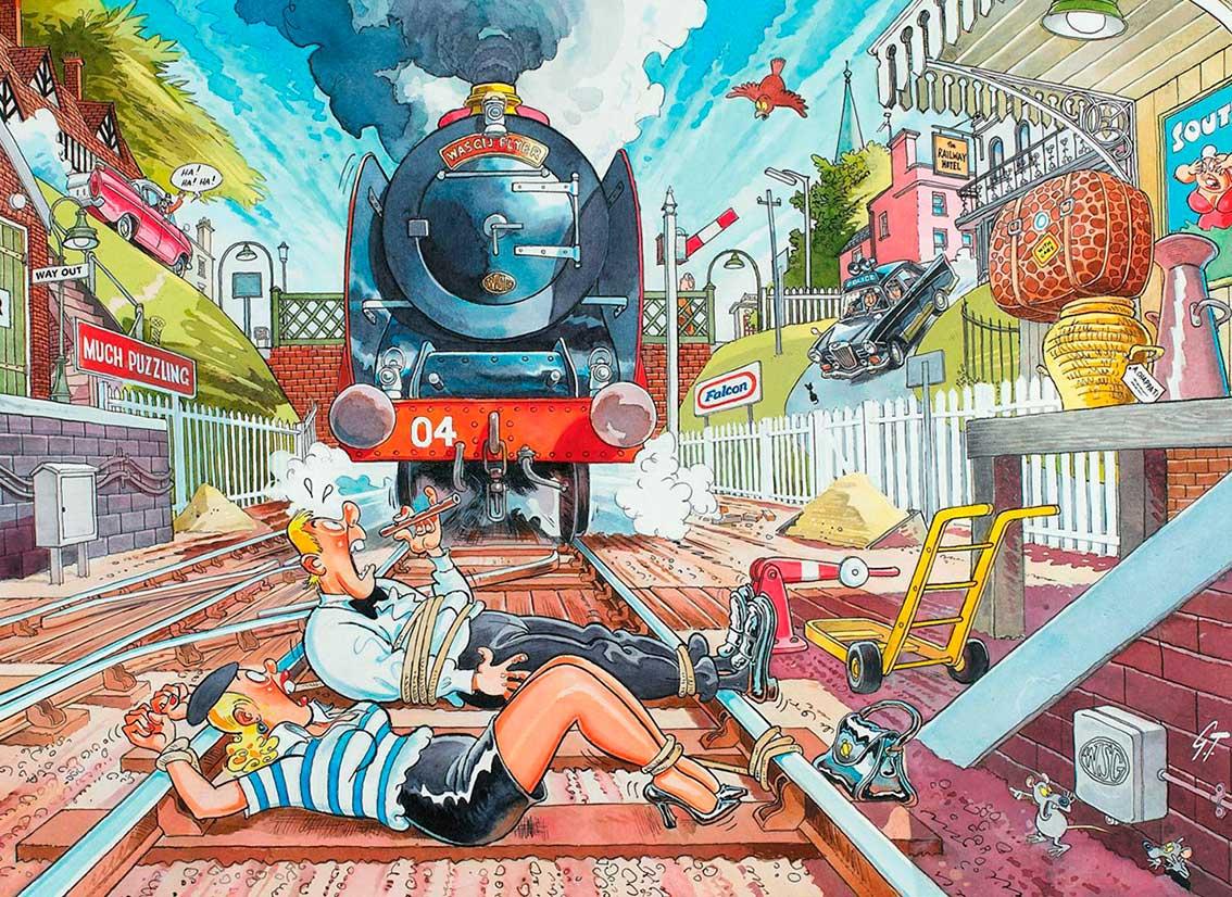 Puzzle Jumbo Mystery The Wasgij Express de 1000 Piezas