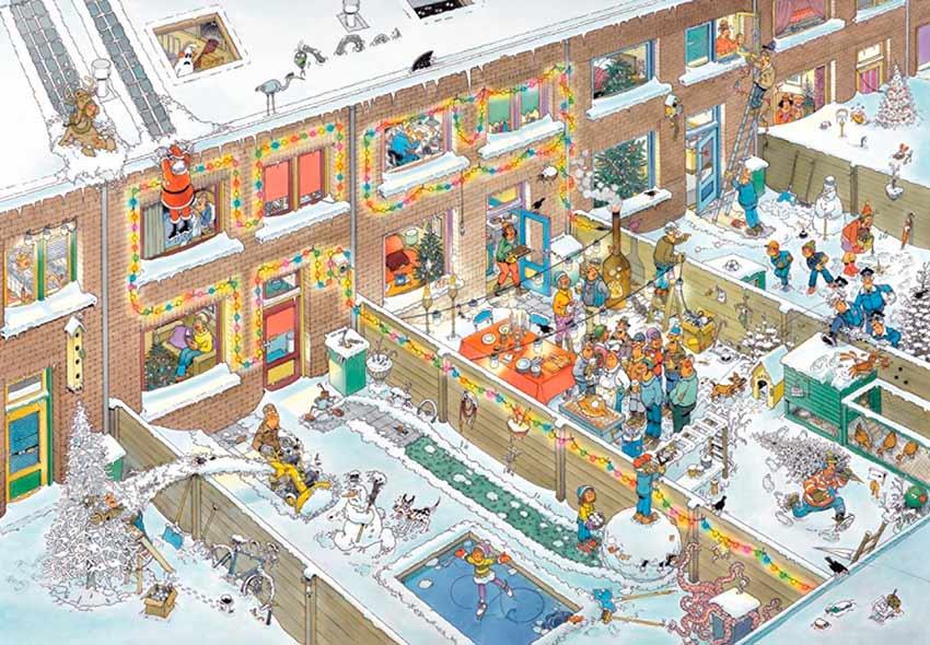 Puzzle Jumbo Nochebuena, navidad de 2000 Piezas