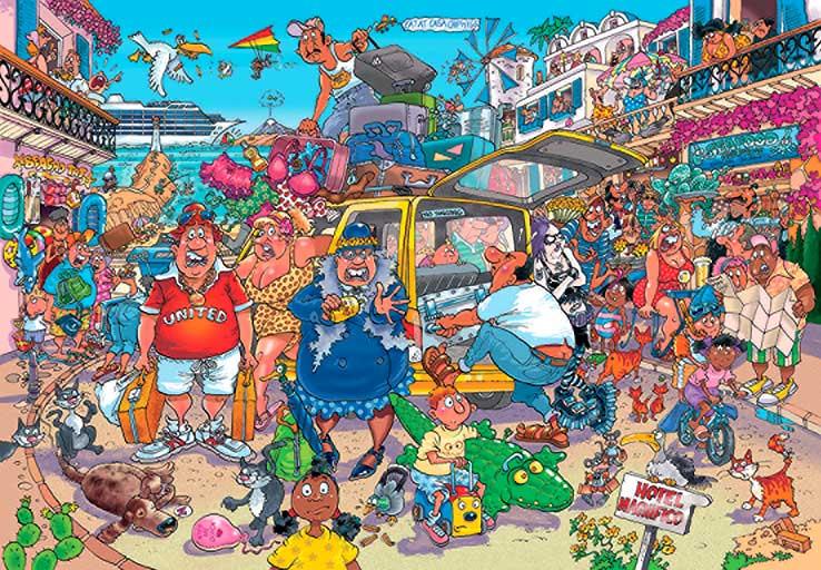 Puzzle Jumbo Original Fiasco de Vacaciones de 1000 Piezas