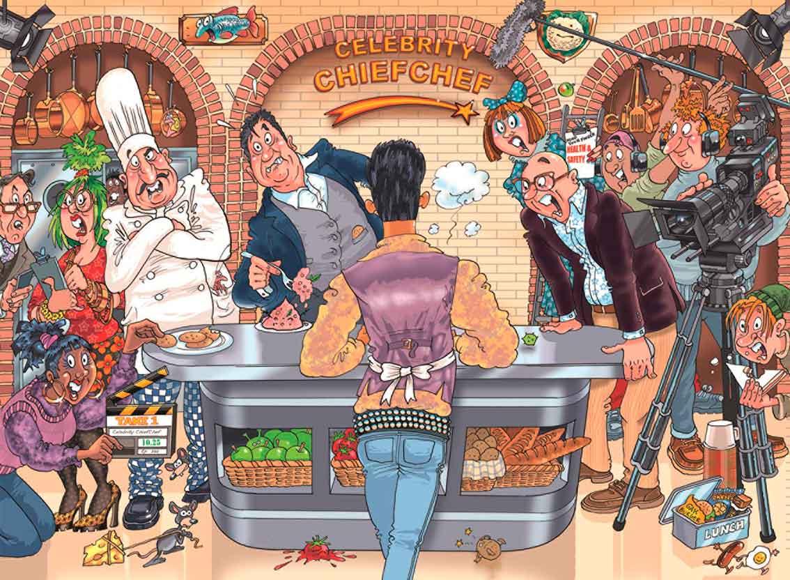 Puzzle Jumbo Original La Fiesta del Chef de 1000 Piezas