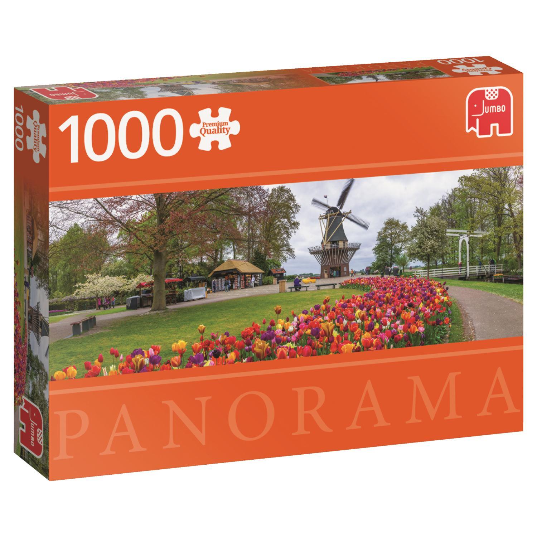 Puzzle Jumbo Panorámica El Keukenhof, Holanda de 1000 Piezas