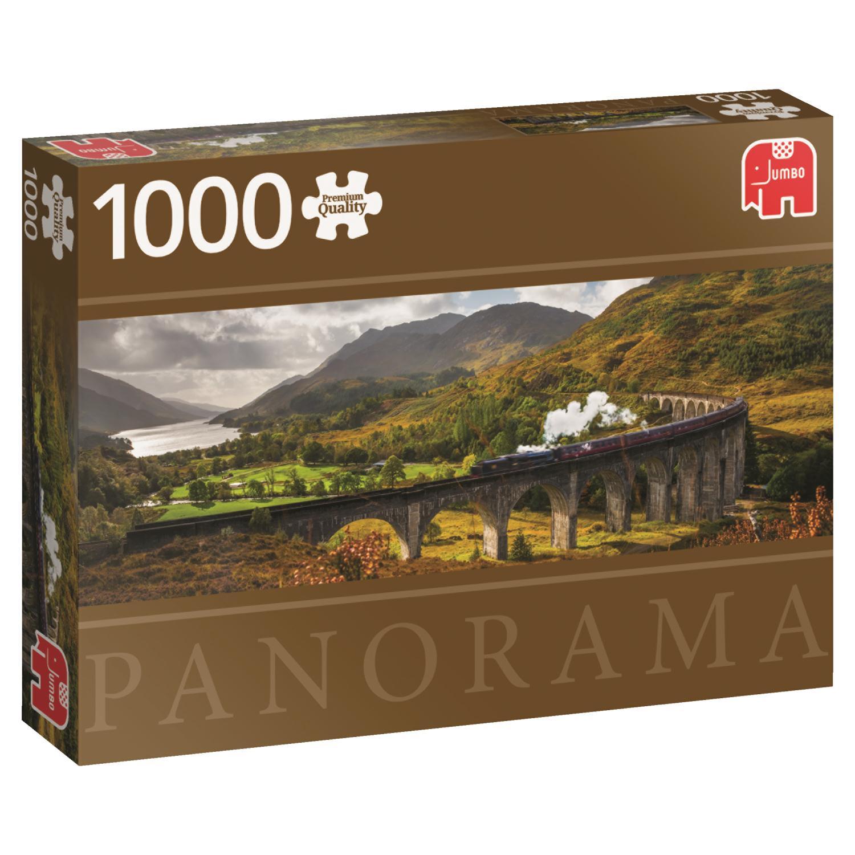 Puzzle Jumbo Panorámica Ferrocarril, Escocia 1000 Pzs
