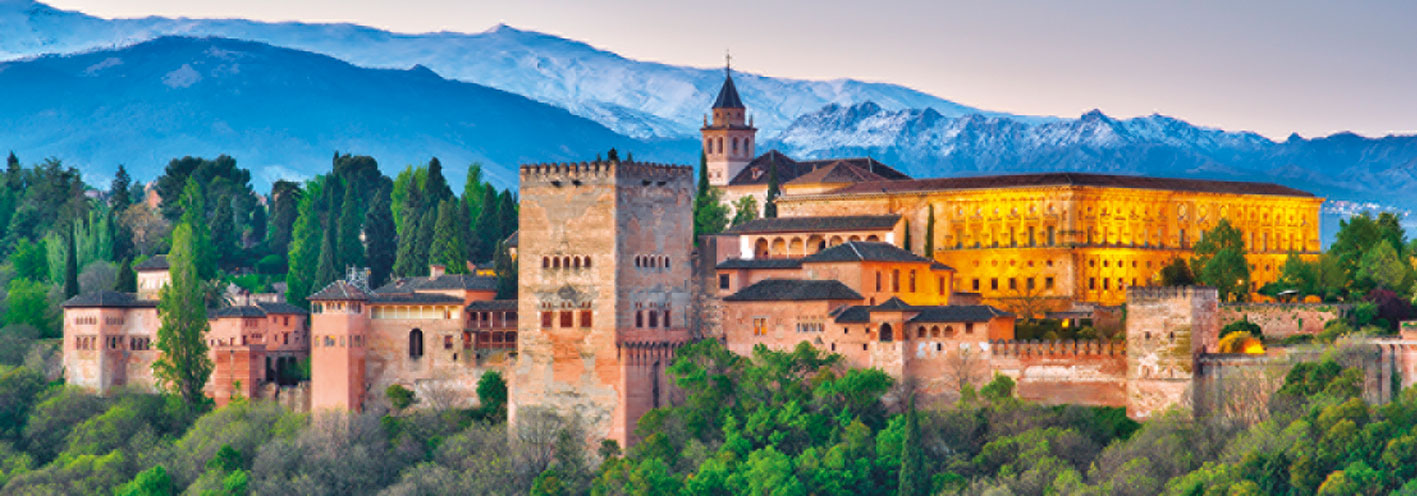Puzzle Jumbo Panorámica de la Alhambra, Granada de 1000 Piezas