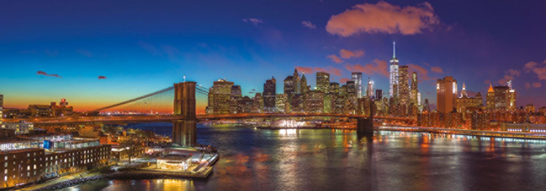 Puzzle Jumbo Puente Hudson, Nueva York de 1000 Piezas