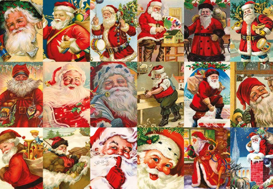 Puzzle Jumbo Papa Noel Vintage de 2000 Piezas