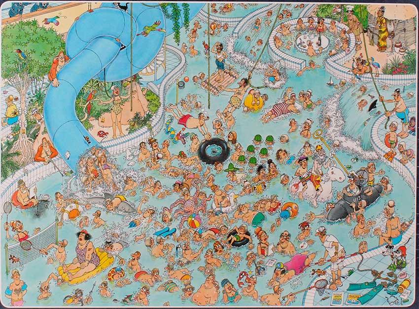 Puzzle Jumbo Parque Acuático Loco de 1500 Piezas
