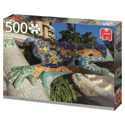 Puzzle Jumbo Parque Guell, Barcelona de 500 Piezas