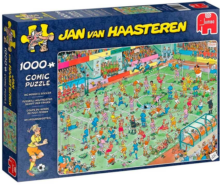 Puzzle Jumbo Partido de Fútbol Femenino de 1000 Piezas