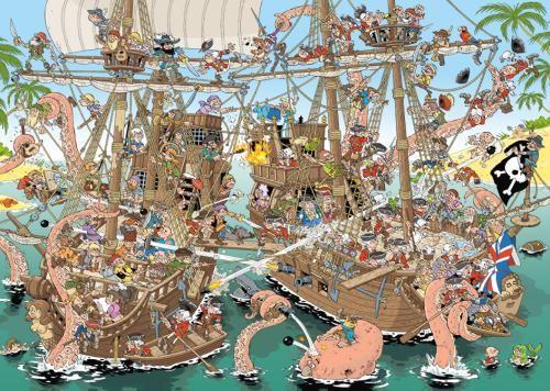Puzzle Jumbo Piratas de 1000 Piezas