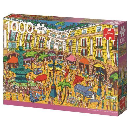 Puzzle Jumbo Plaza Real, Barcelona de 1000 Piezas