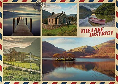 Puzzle Jumbo Postal Desde el Lago de 1000 Piez