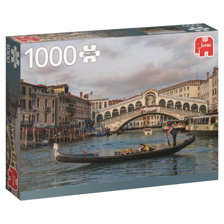 Puzzle Jumbo Puente de Rialto, Venecia de 1000 Piezas