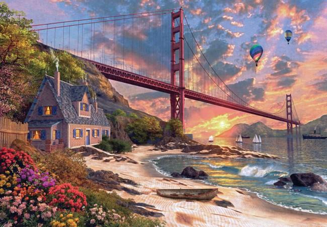 Puzzle Jumbo Puente Golden Gate, San Francisco de 1000 Piezas