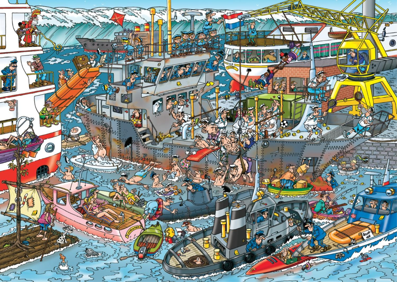 Puzzle Jumbo Puerto Marino de 500 Piezas