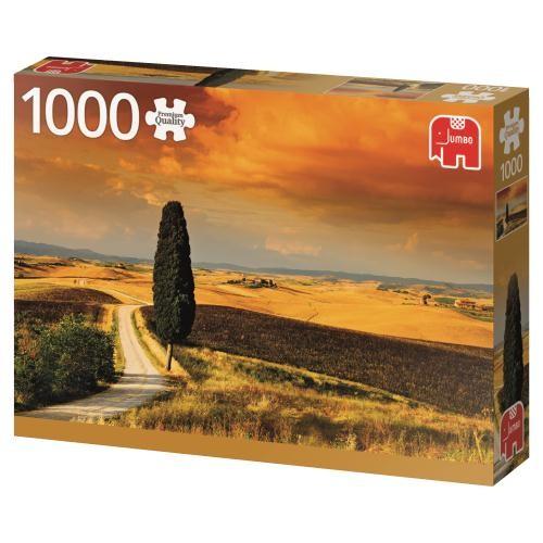 Puzzle Jumbo Puesta de Sol en la Toscana de 1000 Piezas