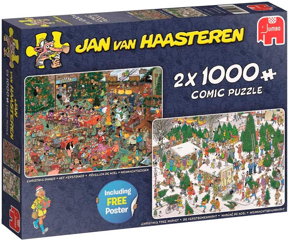 Puzzle Jumbo Regalos de Navidad de 2 x 1000 Piezas