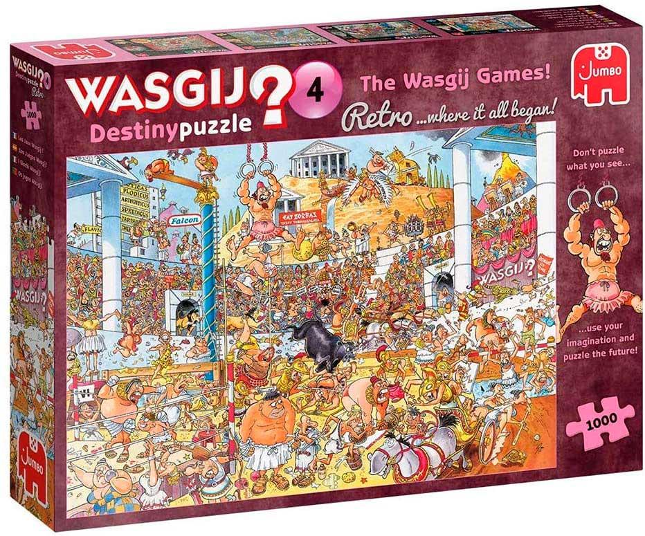 Puzzle Jumbo Retro Destiny Los Juegos Wasgij de 1000 Piezas
