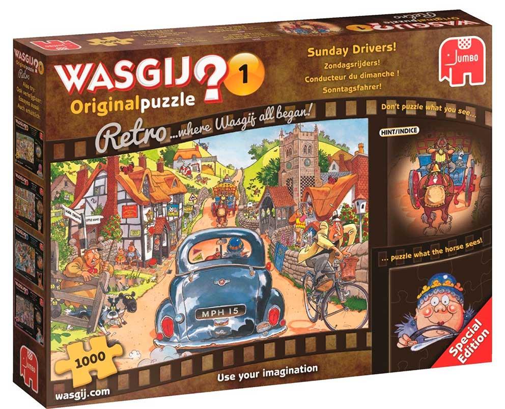 Puzzle Jumbo Retro Domingo en la Carretera de 1000 Piezas