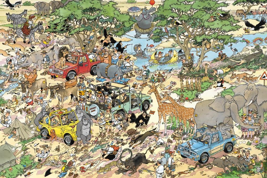 Puzzle Jumbo Safari de 1500 Piezas