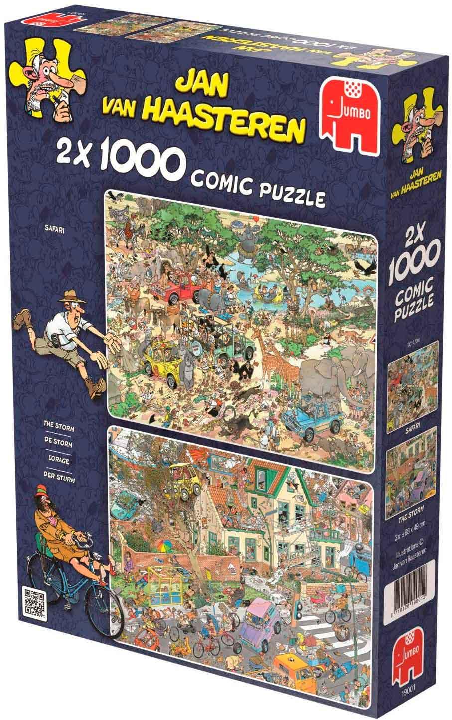 Puzzle Jumbo Safari y Tormenta de 2 x 1000 Piezas
