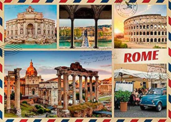 Puzzle Jumbo Saludos desde Roma de 1000 Piezas