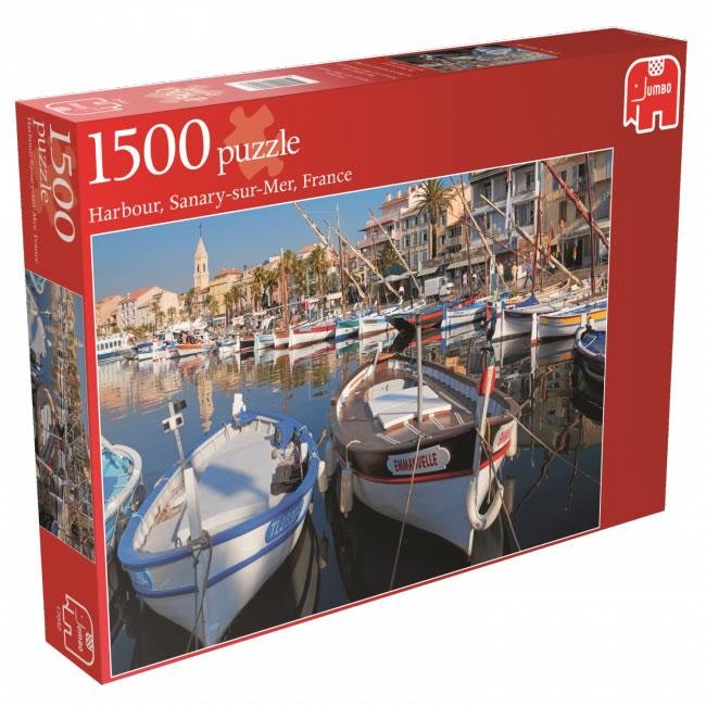 Puzzle Jumbo Sanary Sur Mer, Francia de 1500 Piezas