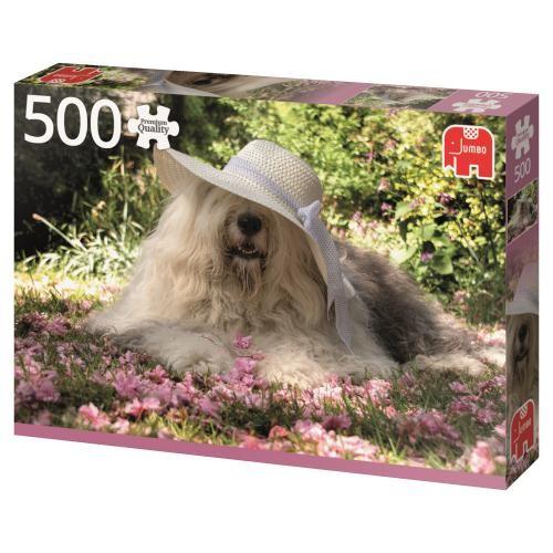 Puzzle Jumbo Sophie en un Lecho de Flores de 500 Piezas