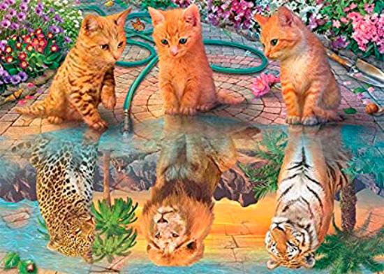 Puzzle Jumbo Sueño de Gatos de 500 Piezas