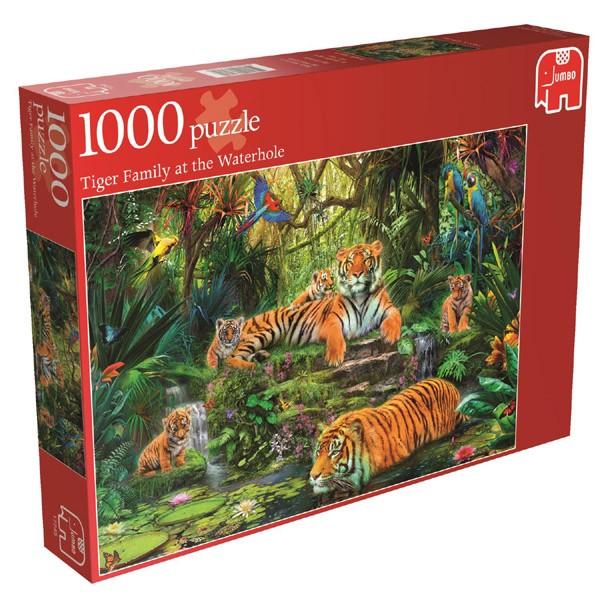 Puzzle Jumbo Tigres de la Selva de 1000 Piezas