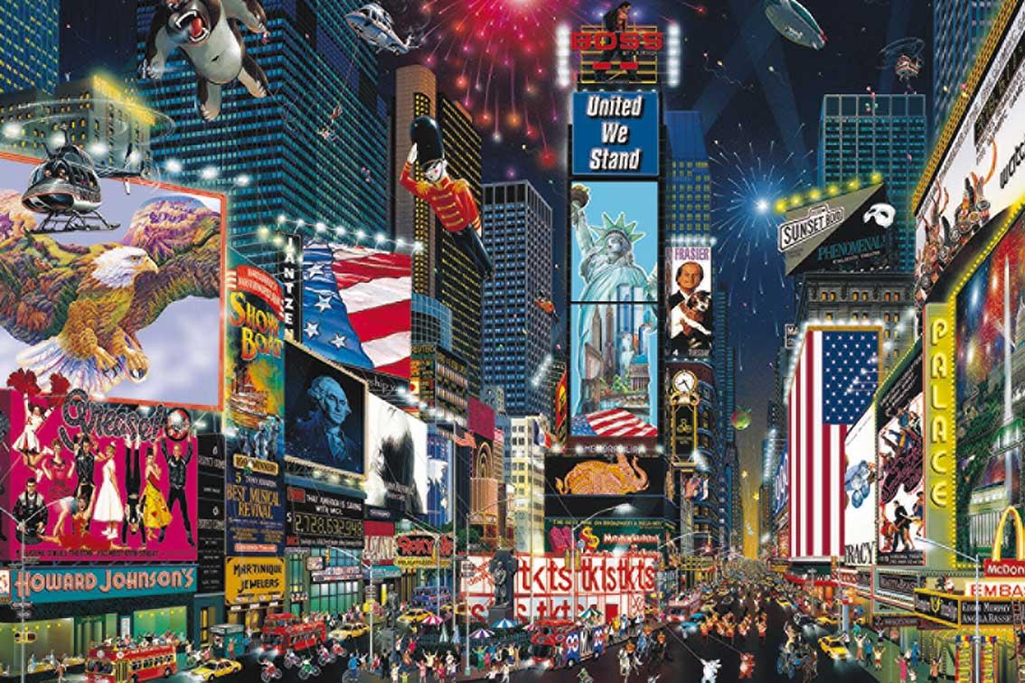 Puzzle Jumbo Times Square, Nueva York de 1500 Piezas