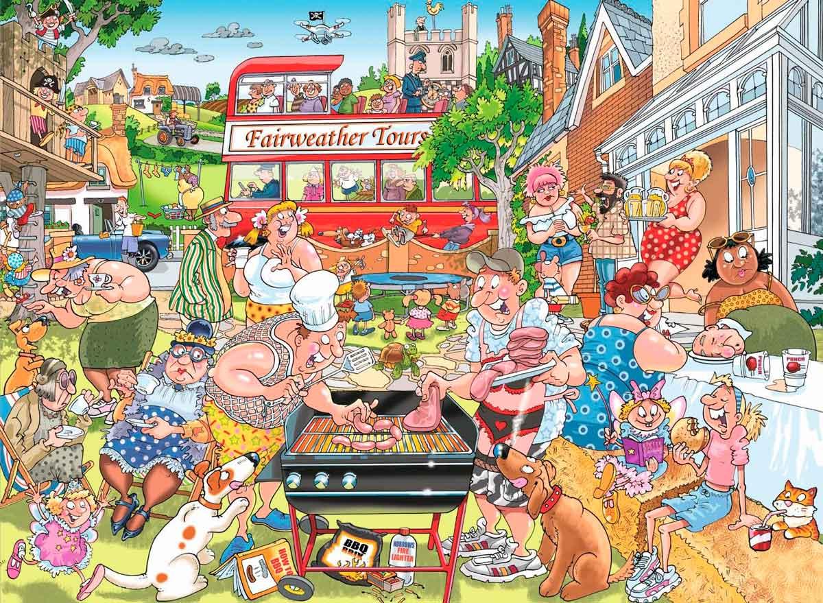 Puzzle Jumbo Típica Barbacoa Británica de 1000 Piezas