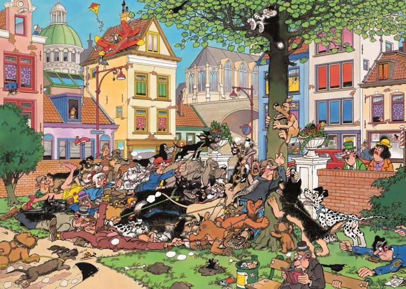 Puzzle Jumbo Tras el Gato de 500 Piezas