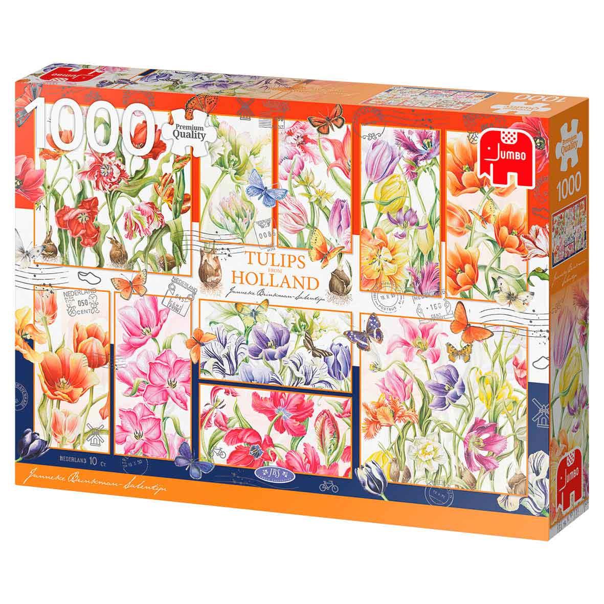 Puzzle Jumbo  Tulipanes de Holanda de 1000 Piezas