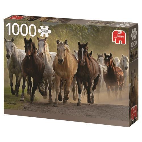Puzzle Jumbo Un Grupo de Caballos de 1000 Piezas