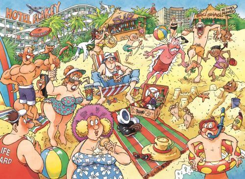 Puzzle Jumbo Unas Felices Vacaciones de 1000 Piezas
