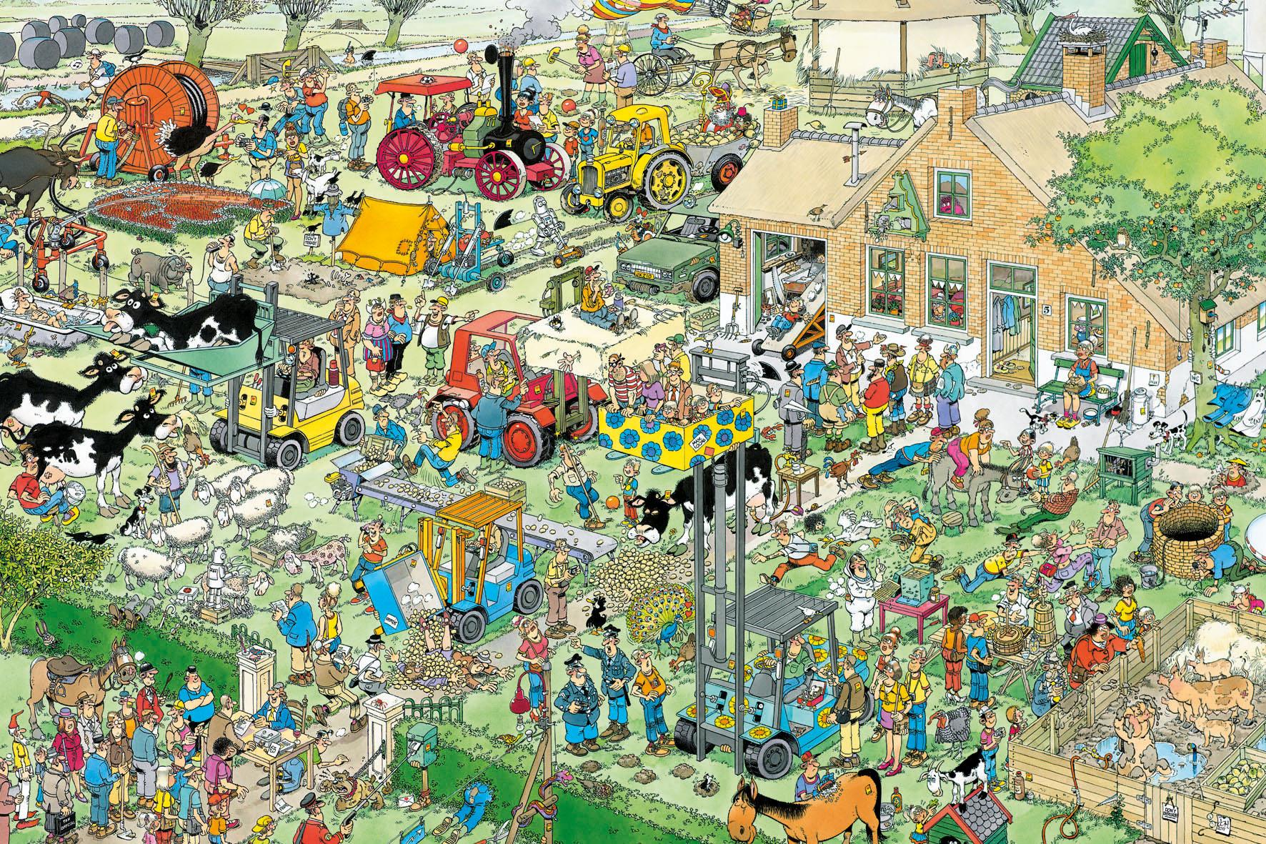 Puzzle Jumbo Visita a la Granja de 1500 Piezas