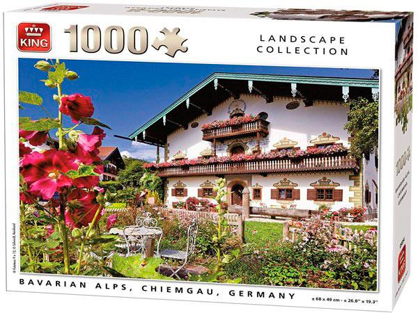 Puzzle King Alpes Bávaros Chiemgau Alemania de 1000 Pzs
