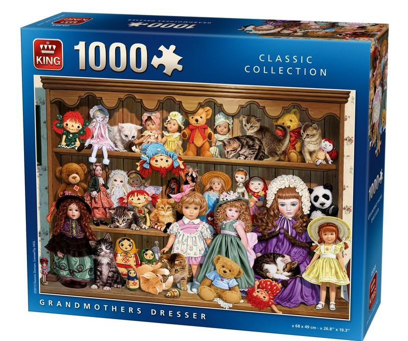 Puzzle King Aparador de Las Abuelas de 1000 Piezas