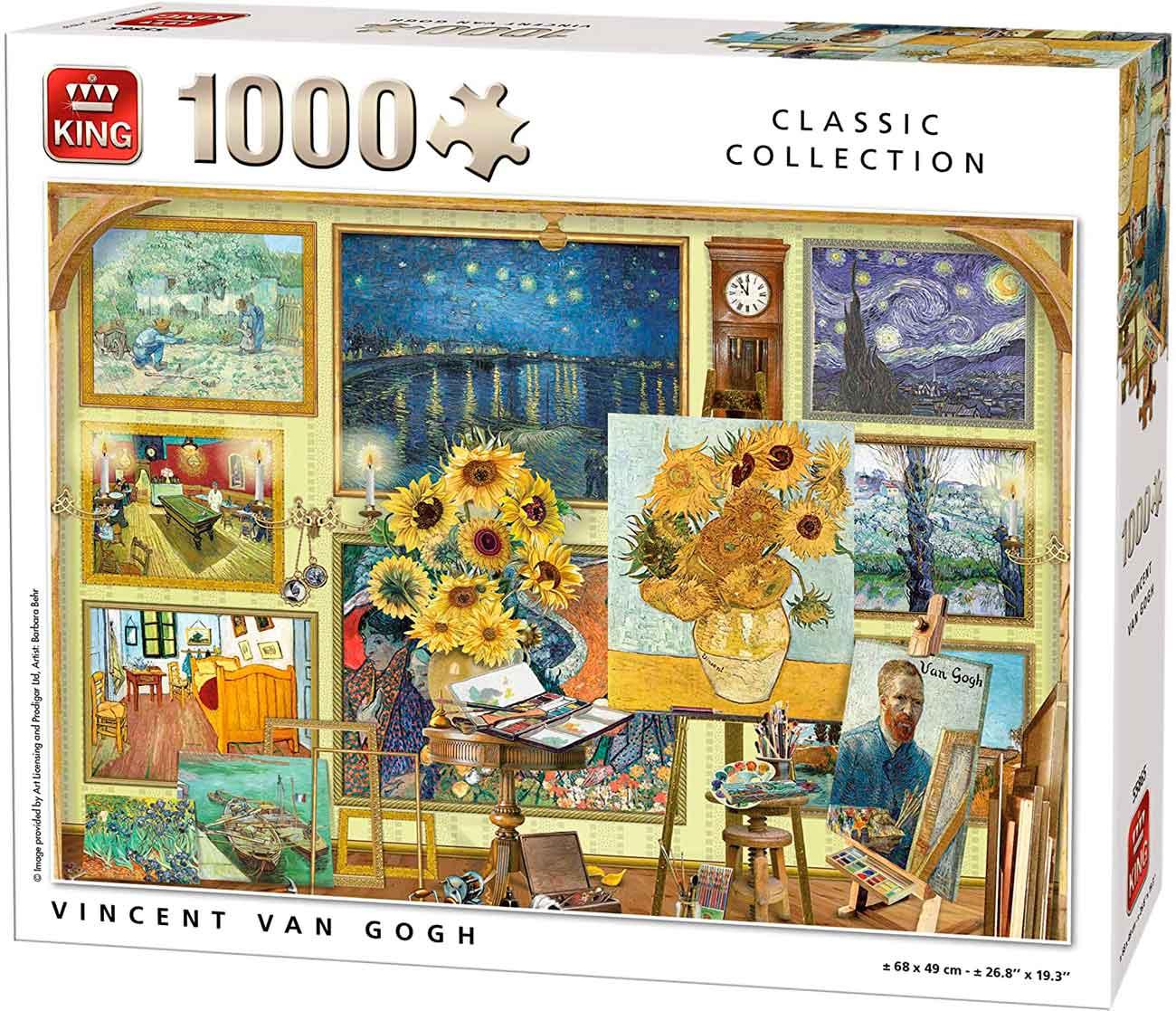 Puzzle King Colección de Clásicos Vincent Van Gogh de 1000 Pzs
