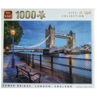 Puzzle King De Noche en Tower Bridge de 1000 Piezas