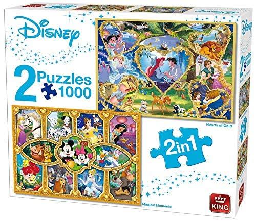 Puzzle King Disney Príncipes y Princesas de 2 x 1000 Piezas