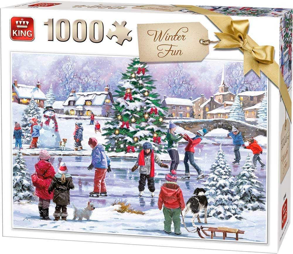 Puzzle King Diversión en Invierno de 1000 Piezas
